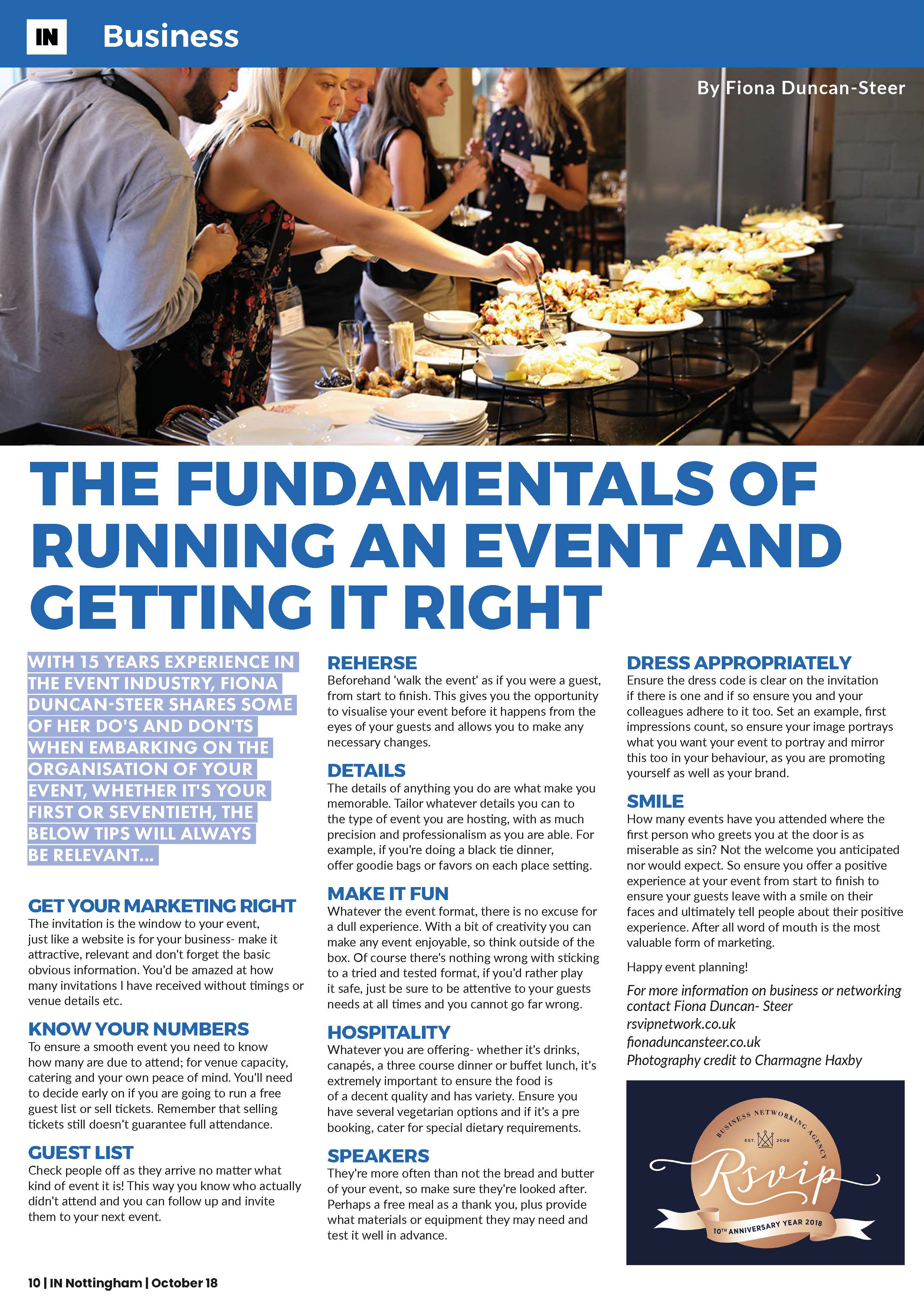 The Fundamentals of running an event and getting it right - Fiona Duncan-Steer